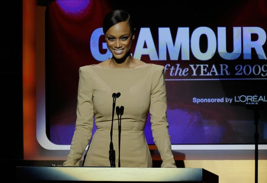 Tyra Banks speaks onstage at the Glamour magazine Women of the Year Honors