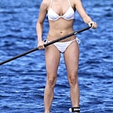 Julianne Hough wore a white bikini to paddleboard in St. Barts.