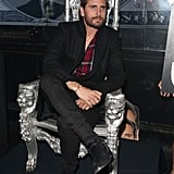 """Scott Disick (or should we say, """"Lord Disick""""?) sat on a silver throne during his stop at Rosies nightclub in Chester, England, on Friday."""