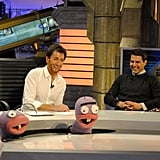 's resident puppets welcomed Tom Cruise to the show.