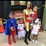 Kourtney Kardashian and Her Family as Superheroes