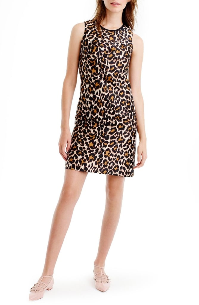 The Dress: J.Crew Leopard Print Shift Dress (Regular & Petite) ($98)  The Costume: Scary Spice, a throwback Kardashian-Jenner, or your standard leopard cat.