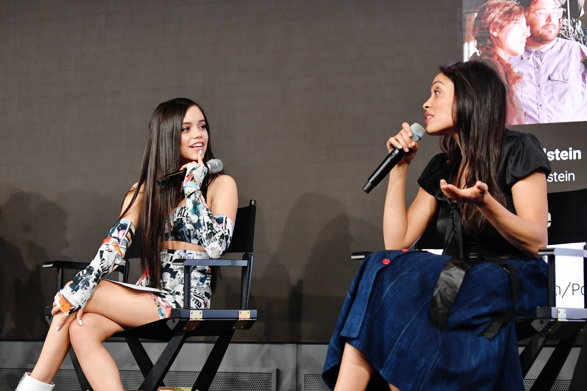 PLAYA VISTA, CALIFORNIA - APRIL 24: Jenna Ortega (L) and Rosario Dawson speak onstage during Power On Premiere By Straight Up Films With Support From YouTube at Google Playa Vista Office on April 24, 2019 in Playa Vista, California. (Photo by Emma McIntyre/Getty Images for YouTube)