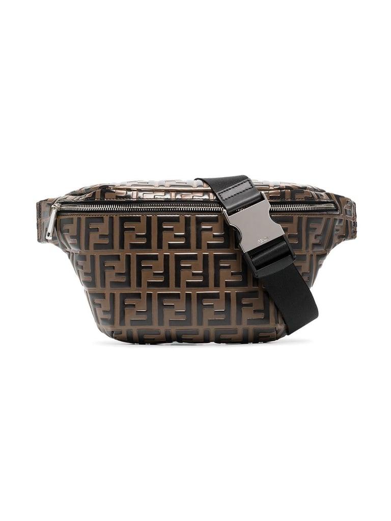 Fendi Logo Embossed Crossbody Bag