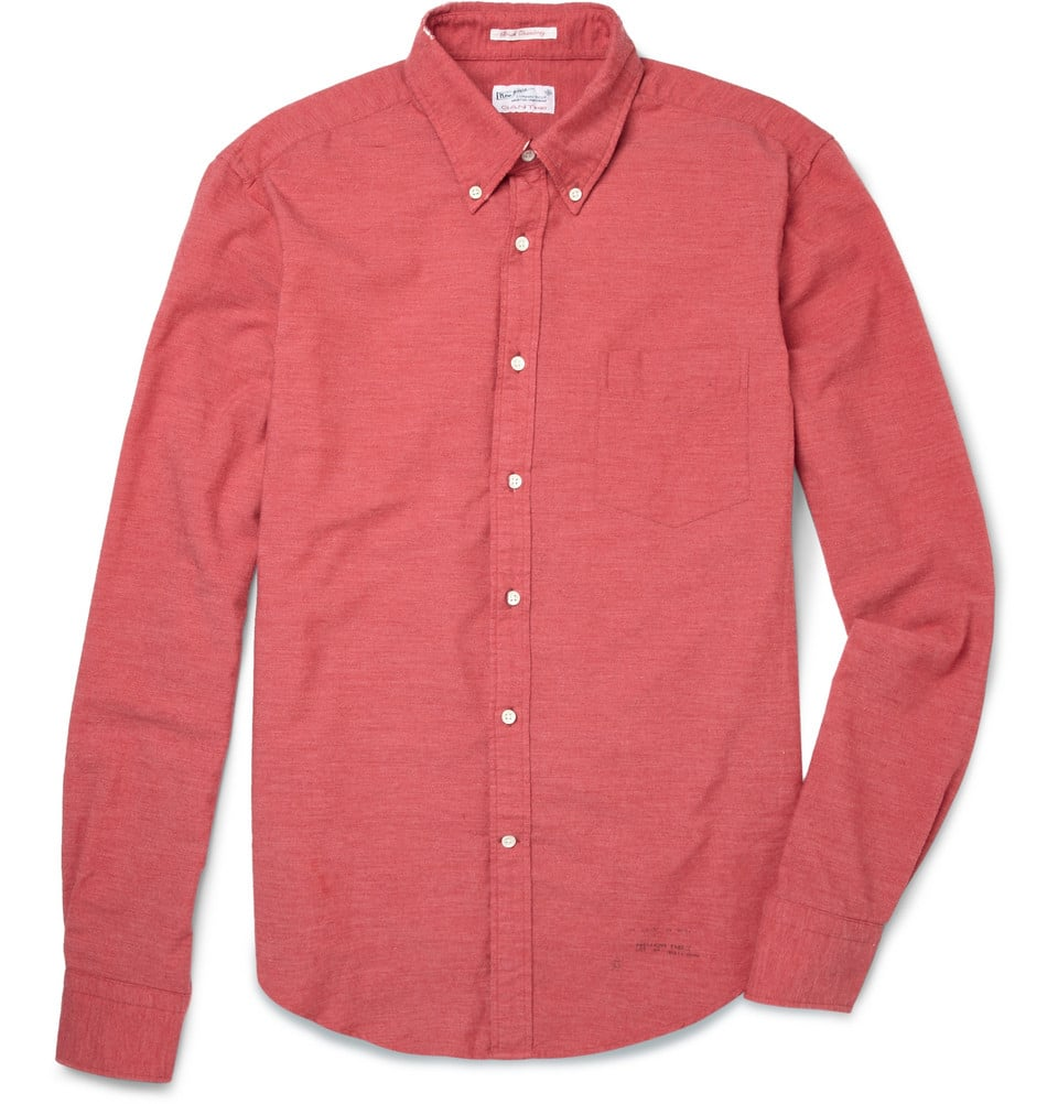 Let's try to get Dad to wear this vibrant shirt with printed trousers and deck shoes, shall we?  Gant Rugger Button-Down Collar Chambray Shirt ($125)