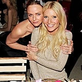 At the Metropolitan of Art's Costume Institute benefit celebrating Alexander McQueen in May 2011, Stella and Gwyneth embraced in their glitzy eveningwear.