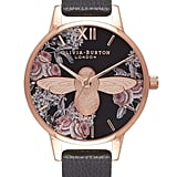 Olivia Burton 3D Bee Botanical Leather-Strap Watch