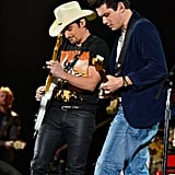 John Mayer performed with Brad Paisley.