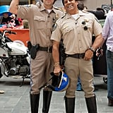 Carson Daly and Erik Estrada donned CHiPs outfits.