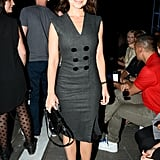 Miroslava Duma suited up in a borrowed-from-the-boys style in Alexander Wang's front row.