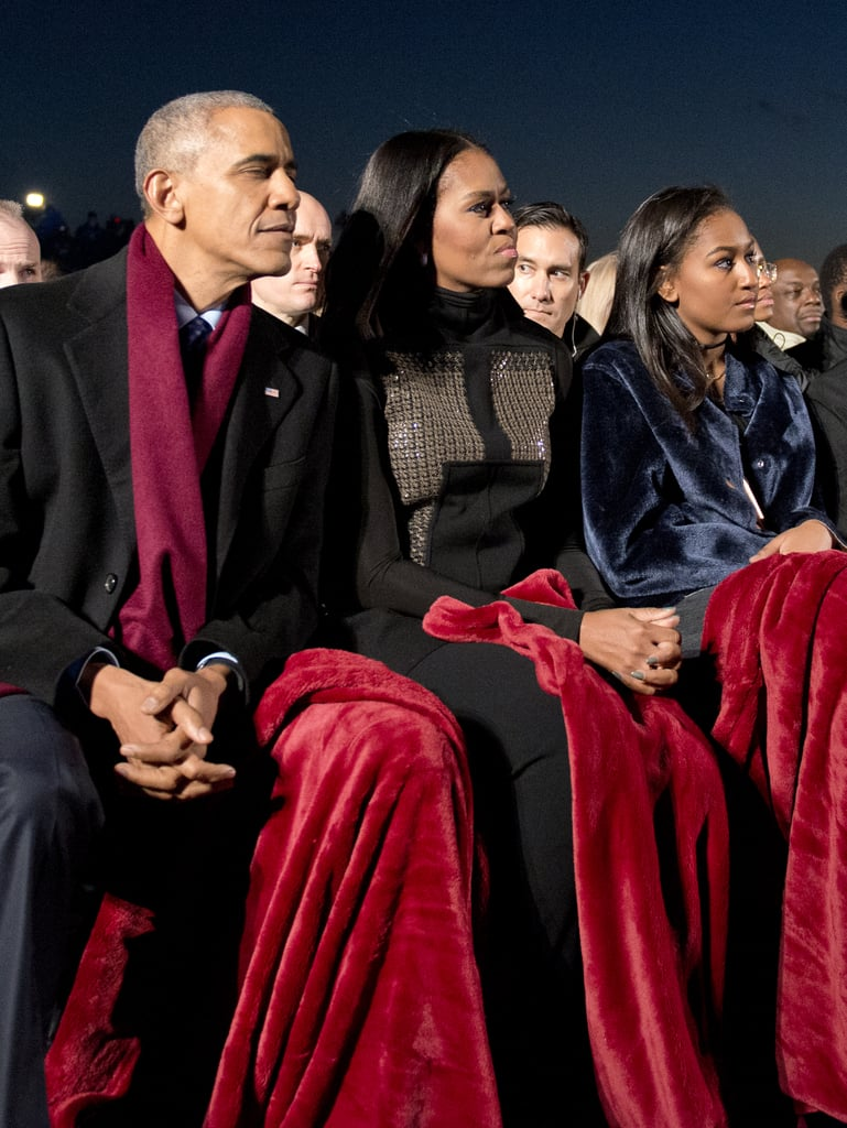 Michelle Wore an Embellished Turtleneck For the National Tree Lighting