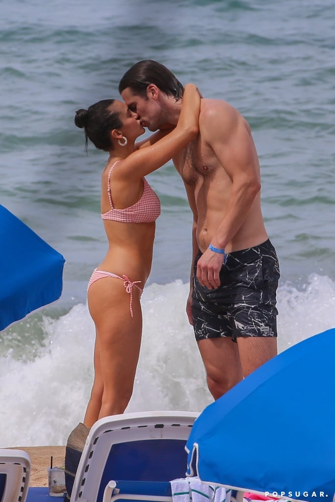 "Nina Dobrev and Grant Mellon are still going strong! The couple recently escaped to Hawaii for Miles Teller and Keleigh Sperry's Maui wedding, and they've been making the most out of their time on the island. On Aug. 31, Nina and Grant showed off their cute romance when they hit the beach and splashed around in the ocean. The pair seemed to have a blast as they kissed and played volleyball and Nina sat on Grant's shoulders. On Sept. 2, the 30-year-old actress returned to the beach and soaked up the sun in a yellow bikini. Nina and Grant were first linked together in February. Even though they've been pretty private when it comes to their relationship, their sweet outings pretty much speak for themselves. In May, they enjoyed a PDA-filled vacation in Cannes, and according to E! News, Nina is ""really happy"" with her beau.       Related:                                                                                                           37 Pictures That Prove Nina Dobrev Can Rock the Hell Out of a Bikini"