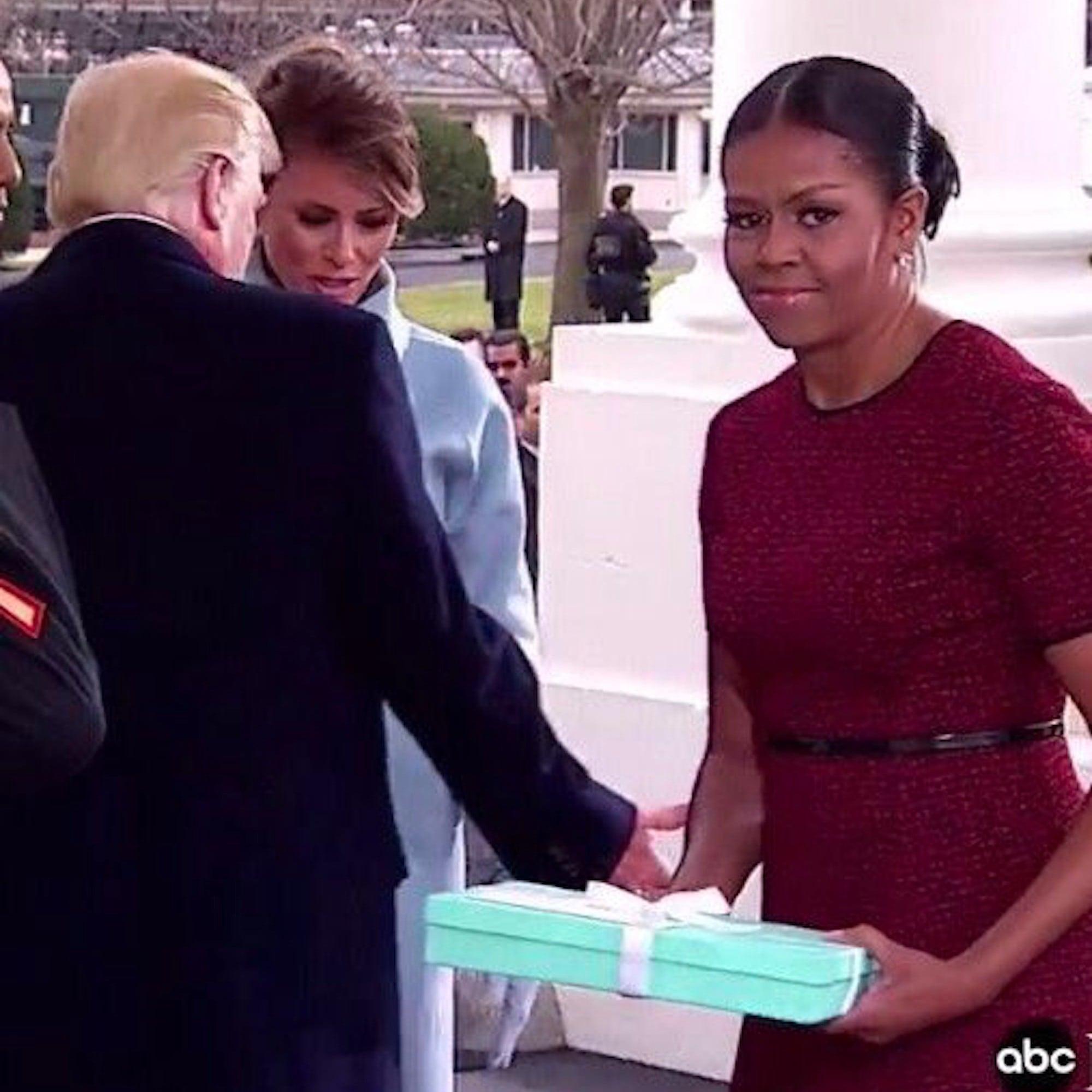 Michelle Obama's Reaction to Melania Trump's Gift | POPSUGAR ...