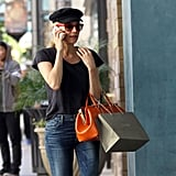 Diane Kruger talked on her phone while out in LA.