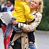 Naomi Watts carried son Kai in NYC.