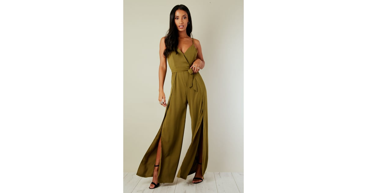 9b098abd691a Oeuvre Khaki Split Leg Jumpsuit | Shopping Guide August 2018 | POPSUGAR  Fashion UK Photo 16