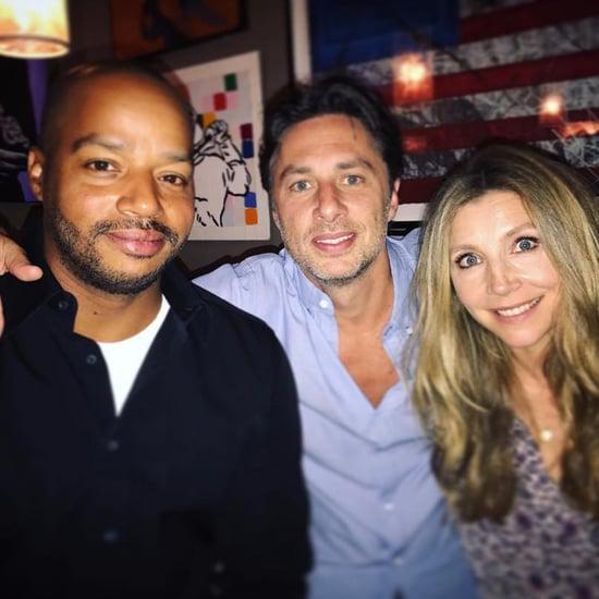 Zach Braff With Donald Faison and Sarah Chalke July 2017