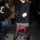 Katie Holmes had her hands in her pockets in NYC.
