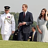 Kate Middleton and Prince William were guided through the Kranji War Memorial.