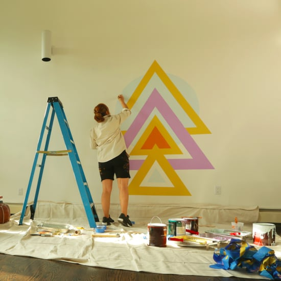 Geometric Wall Mural DIY