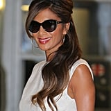 Making a TV appearance with her new X Factor contestants in October 2013, Nicole added a touch of class to her crop top with a half-up beehive hairstyle and glossy red lips.