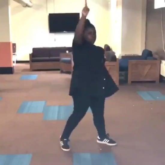Girl Learns Janet Jackson Choreography