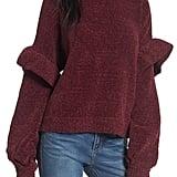 BP Ruffle Chenille Sweater