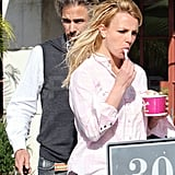 Photos of Britney Spears Getting Yogurt