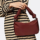 Topshop Burgundy Knot Nylon Shoulder Bag