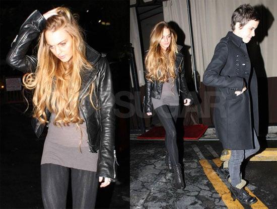Photos of Lindsay Lohan and Samantha Ronson Leaving Bardot in LA