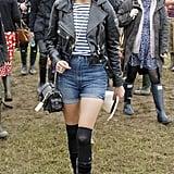 Alexa Chung at Glastonbury 2008