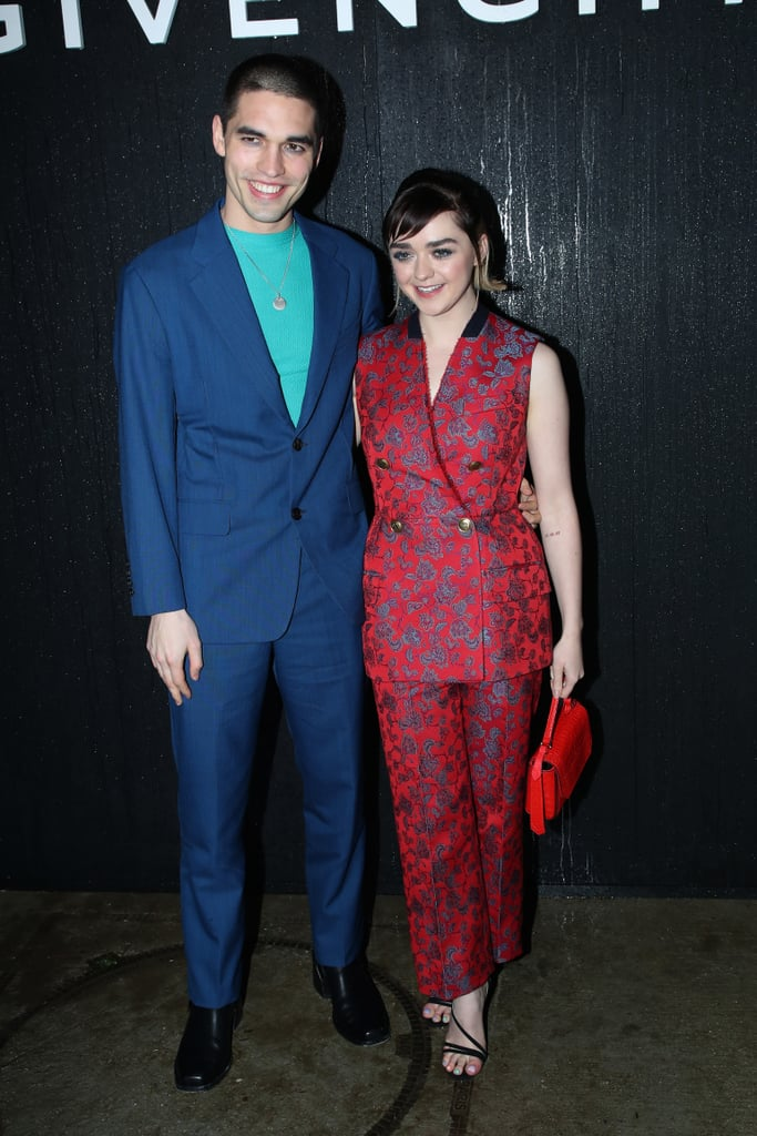 Reuben Selby and Maisie Williams at the Givenchy Fall 2020 Show