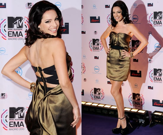 Photos of Kelly Brook at the 2010 MTV Europe Music Awards