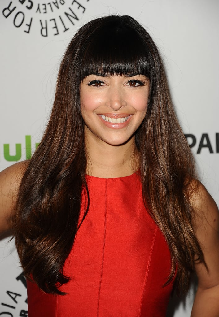Hannah Simone told us she has a hard time getting through scenes with Max because he says the wildest things.