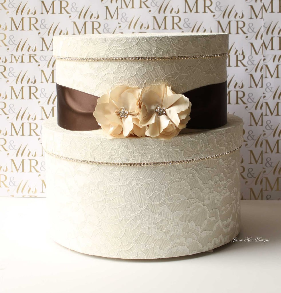 Lace Wedding Card Box
