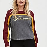 Harry Potter Ollivanders Grey Fleece Crop Sweatshirt