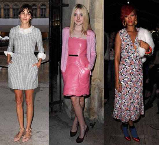 Pictures of Celebrities at Paris Fashion Week