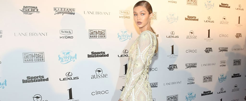 Gigi Hadid in Herve Leger Dress at Sports Illustrated Party