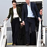 Kate Middleton Wearing a Smythe Duchess Wool Blazer