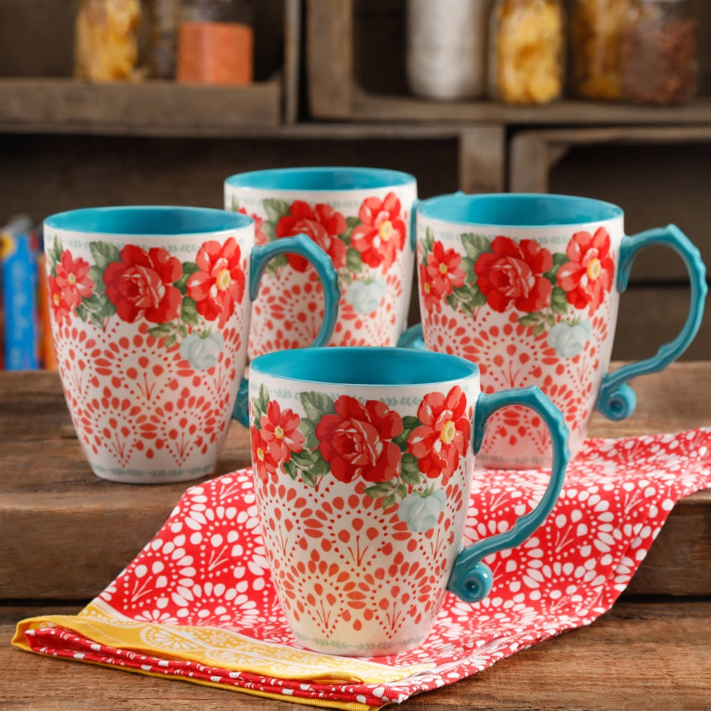 The Pioneer Woman Vintage Floral 26-Ounce Jumbo Latte Mug Set, Set of 4 ($16)