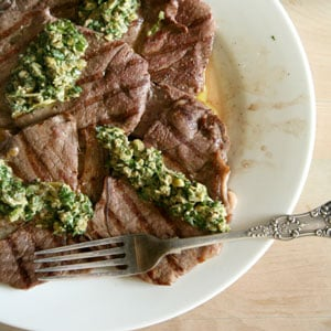 Sunday Bbq Grilled Steak With Sauce Vierge