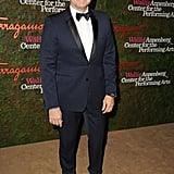 Kevin Spacey wore a dark blue tuxedo to the Annenberg Gala.
