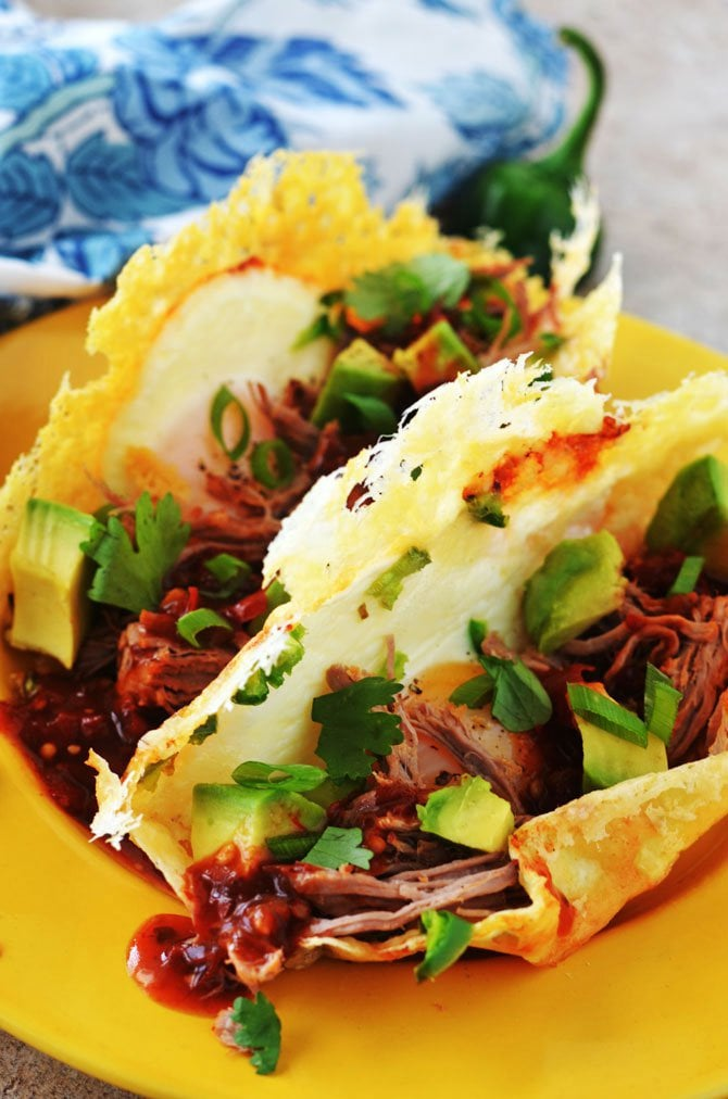 Frico Egg Breakfast Tacos