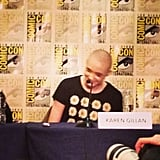 The very beautiful, very bald Karen Gillan is in the house for Guardians of the Galaxy!