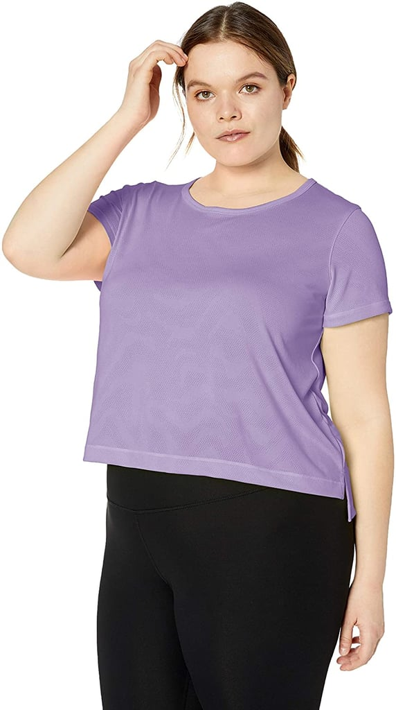 Core 10 Jacquard Mesh Cropped T-Shirt