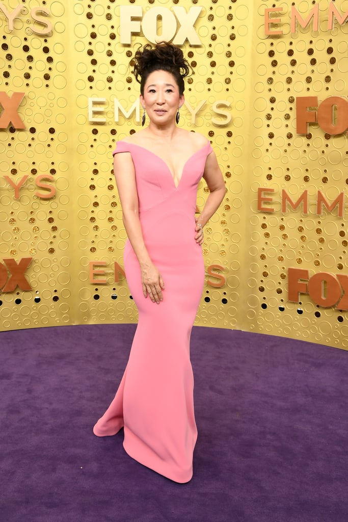 Sandra Oh at the 2019 Emmy Awards