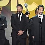 George Clooney, Ben Affleck, Grant Heslov, and Alexandre Desplat