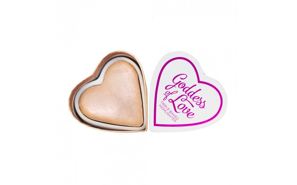 A stellar highlighter in a cute heart shape, I Heart Revolution Blushing Hearts Goddess of Love Highlighter 10g ($8.40, previously $12).