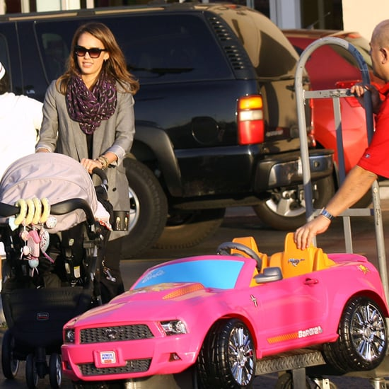 Jessica Alba Buys Pink Barbie Mustang For Daughter Honor
