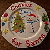 Paint a special plate just for Santa's cookies.